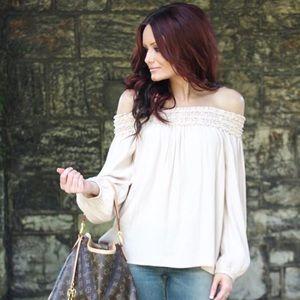 Forever 21 | Smocked off shoulder blouse